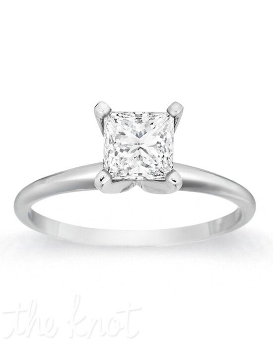 Gemesis Gemesis Classic Four-Prong Princess White Gold Wedding Ring