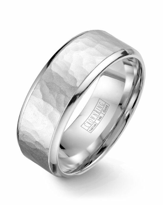 CrownRing WB-9968-M10 White Gold Wedding Ring