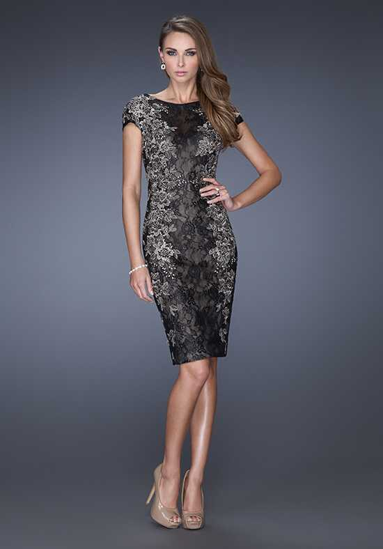 La Femme Evening 20485 Black Mother Of The Bride Dress