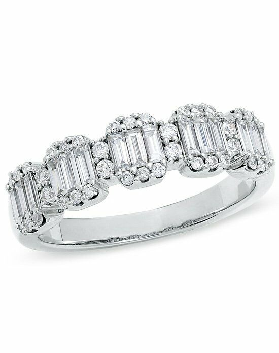 Zales 3 4 Ct T W Baguette And Round Diamond Band In 14k
