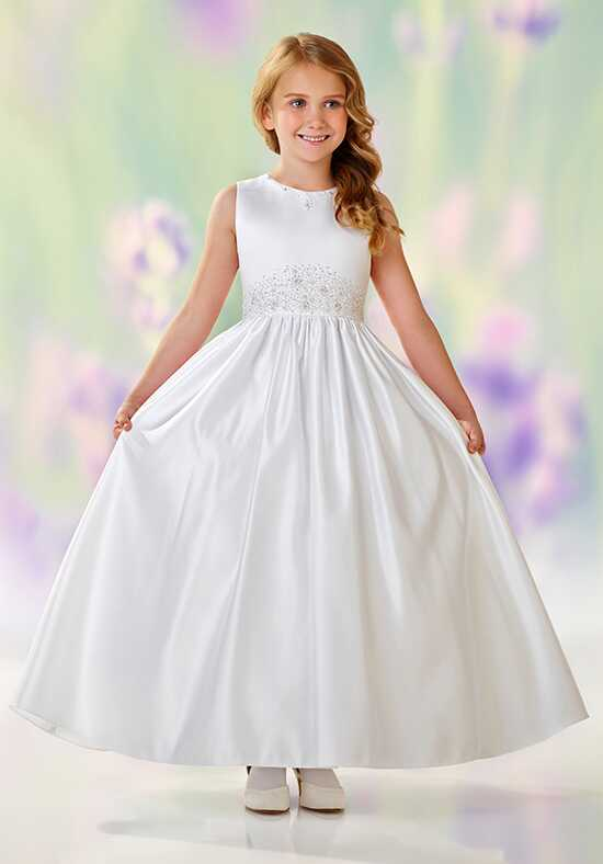 Joan Calabrese by Mon Cheri 118305 White Flower Girl Dress