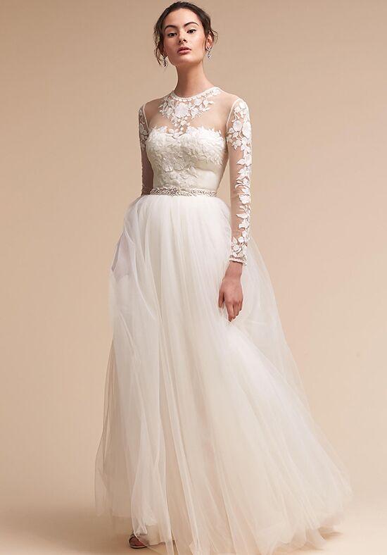 Bhldn sydney top marcie skirt wedding dress the knot for Wedding dress bodysuit and skirt
