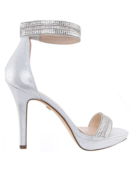 Nina Bridal Wedding Accessories Aubrie Silver Shoe