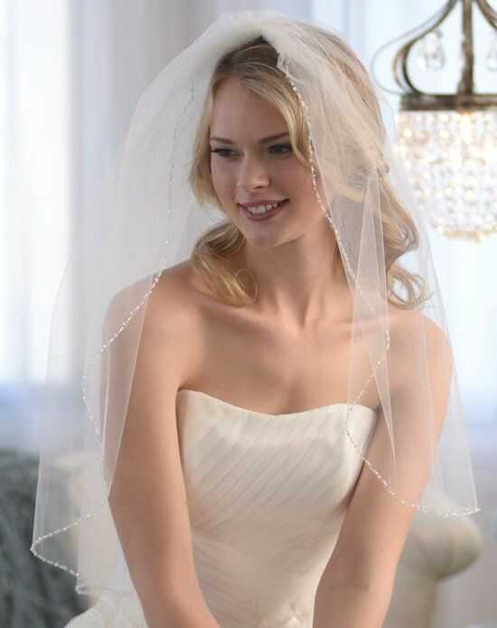 USABride 1-Layer, Anniston Beaded Edge Veil VB-5032 Ivory Veil