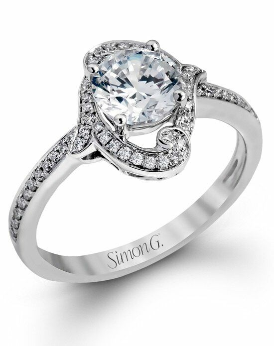 Simon G. Jewelry Round Cut Engagement Ring