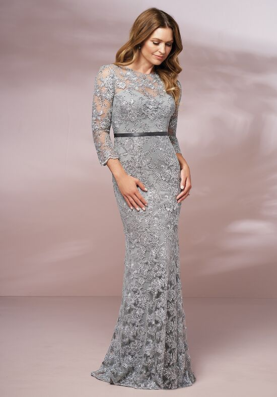 Jade J205016 Silver Mother Of The Bride Dress