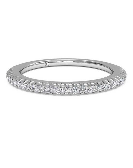Ritani Women's Open Micropave Diamond Eternity Wedding Ring - in 14kt White Gold - (0.30 CTW) White Gold Wedding Ring