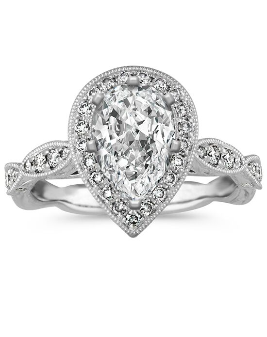 Shane Co. Vintage Pear Cut Engagement Ring