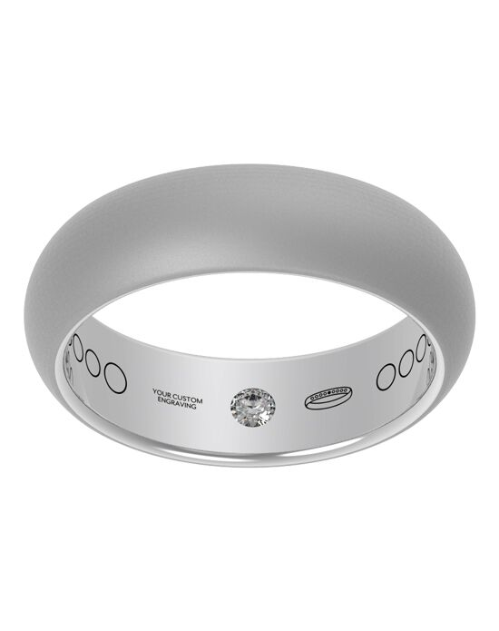 Everband 6 mm Classic with Matte Gold, Rose Gold, White Gold, Platinum Wedding Ring
