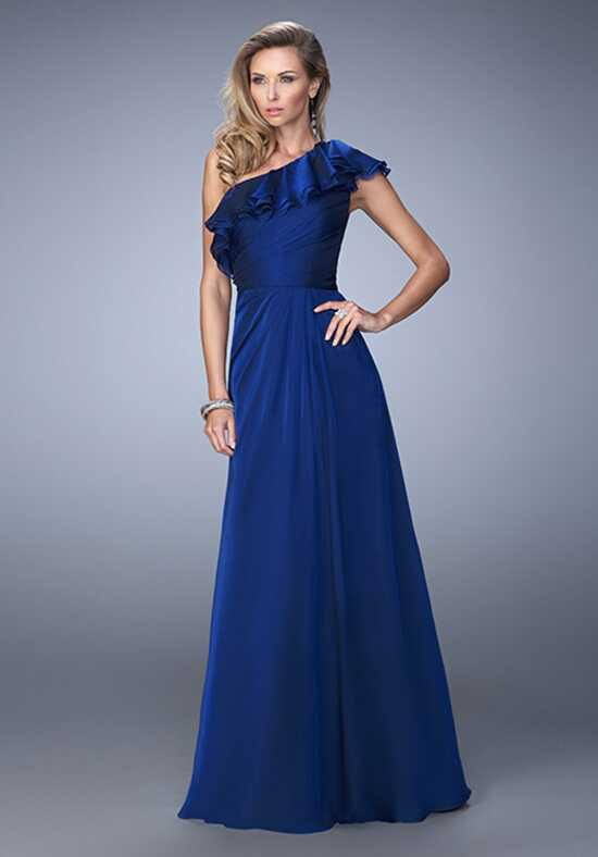 La Femme Evening 21893 Blue Mother Of The Bride Dress