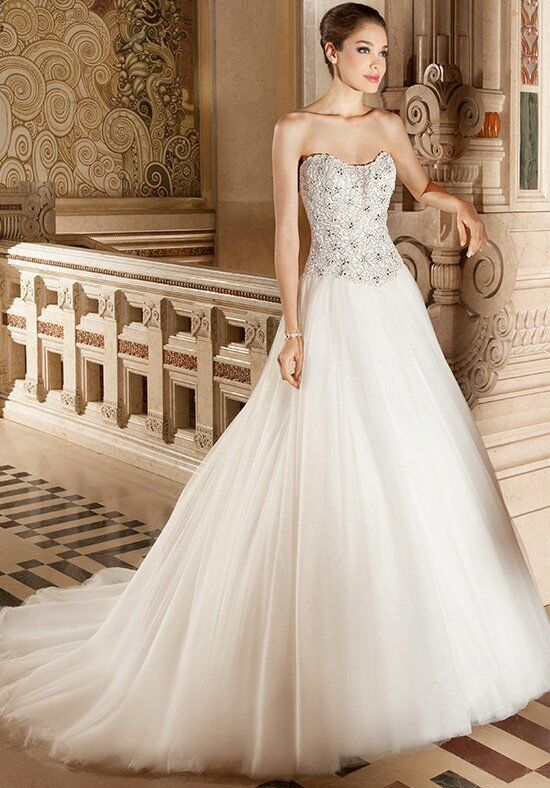 Demetrios 566 Ball Gown Wedding Dress