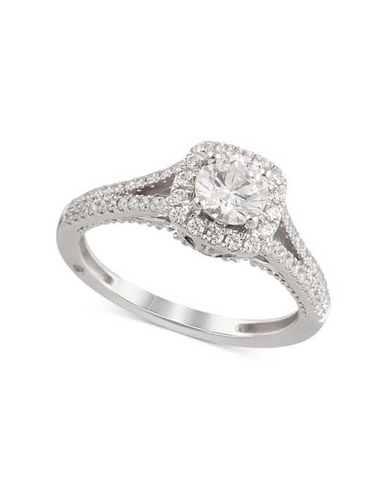 Macy's Fine Jewelry Elegant Round Cut Engagement Ring