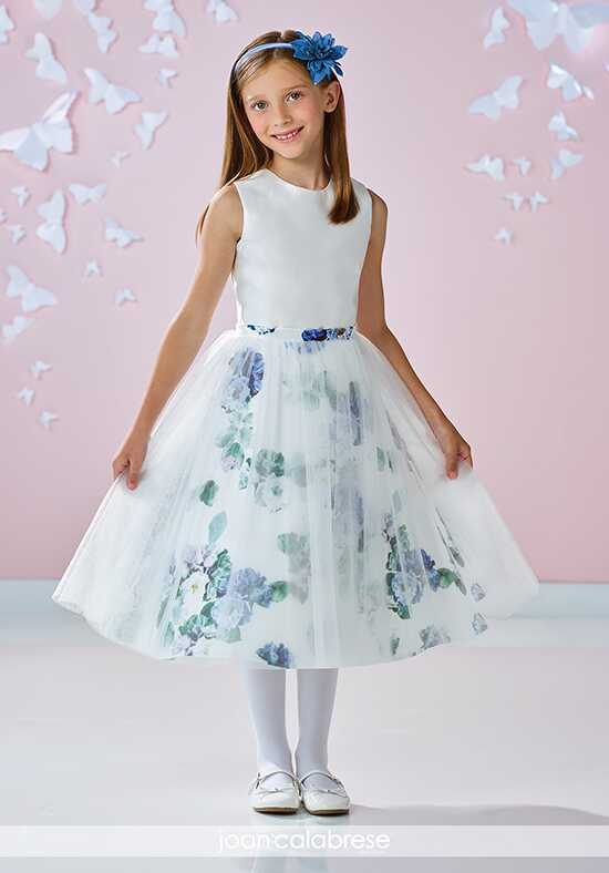 Joan Calabrese by Mon Cheri 117354 Blue Flower Girl Dress