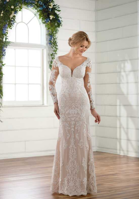 Essense of Australia D2511 Sheath Wedding Dress