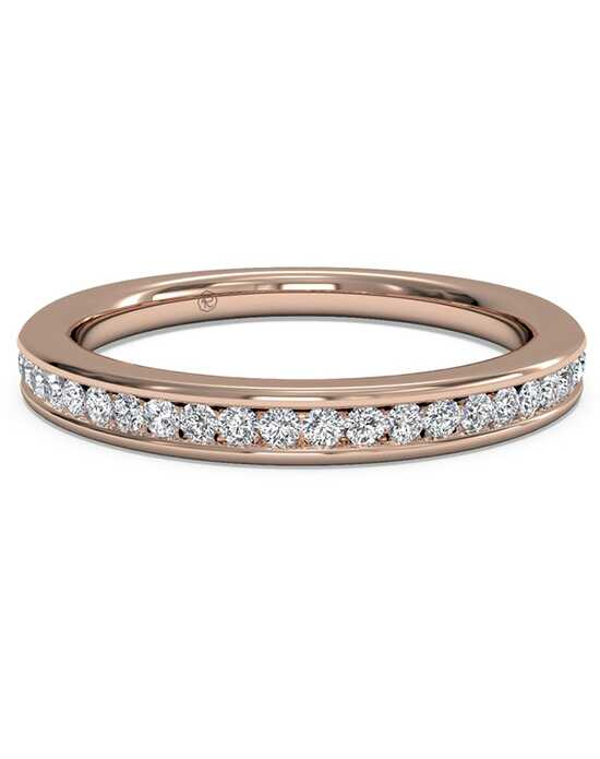ritani womens channel set diamond wedding band in 18kt rose gold - Rose Gold Wedding Rings For Women