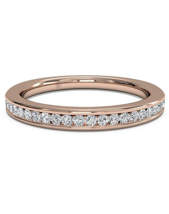 Ritani. Womenu0027s Channel Set Diamond Wedding Band   In 18kt Rose Gold ...