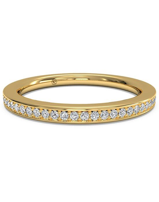 Ritani Women's Micropave Diamond Wedding Band - in 18kt Yellow Gold (0.12 CTW) Gold Wedding Ring