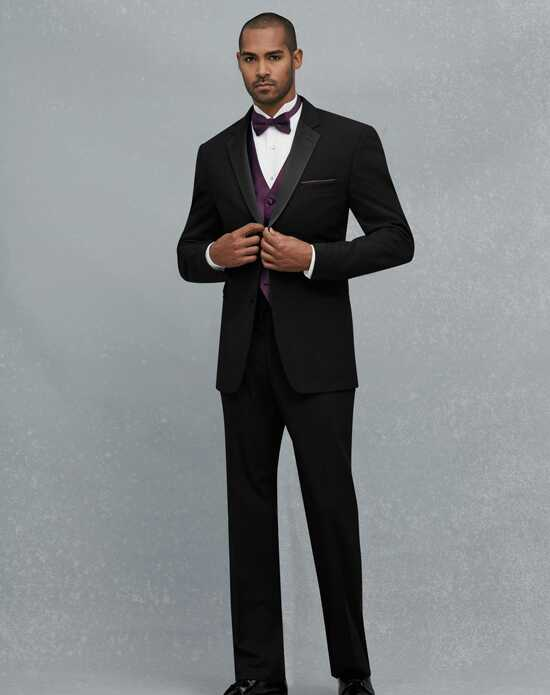 Jos. A. Bank 2 Button Notch Lapel Tuxedo Black Tuxedo