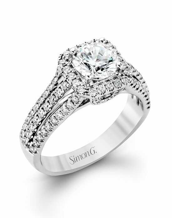 Simon G. Jewelry MR1904 Engagement Ring photo