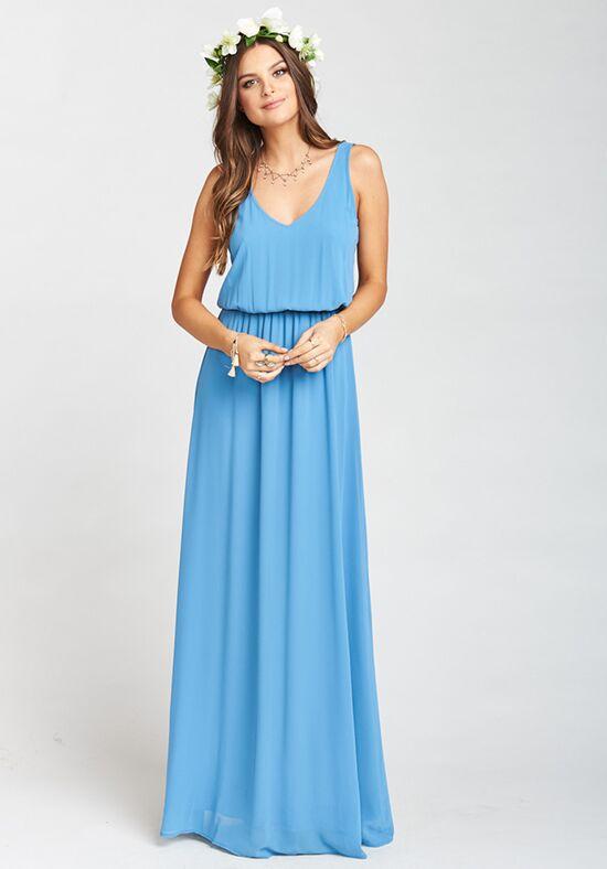 Show Me Your Mumu Kendall Maxi Dress - Coastal Blue Chiffon ...