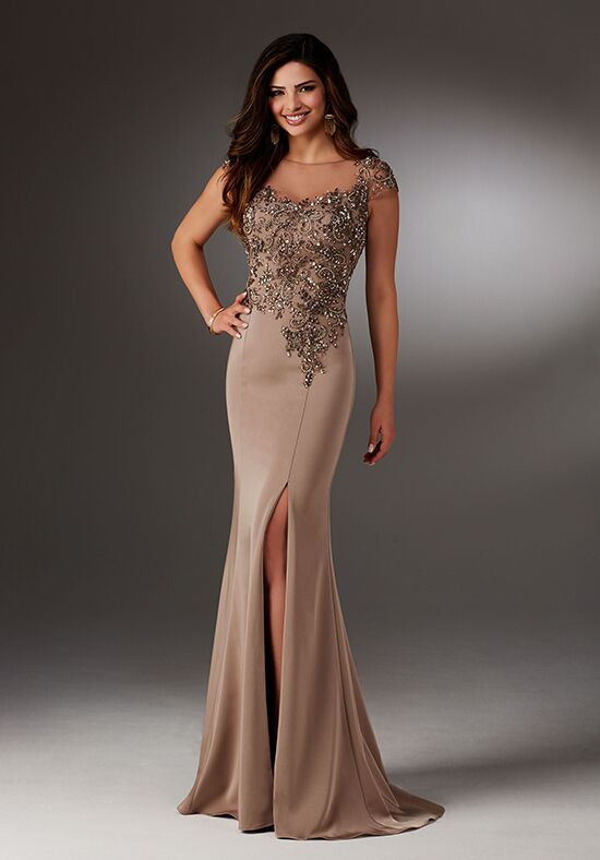 MGNY 71511 Brown Mother Of The Bride Dress