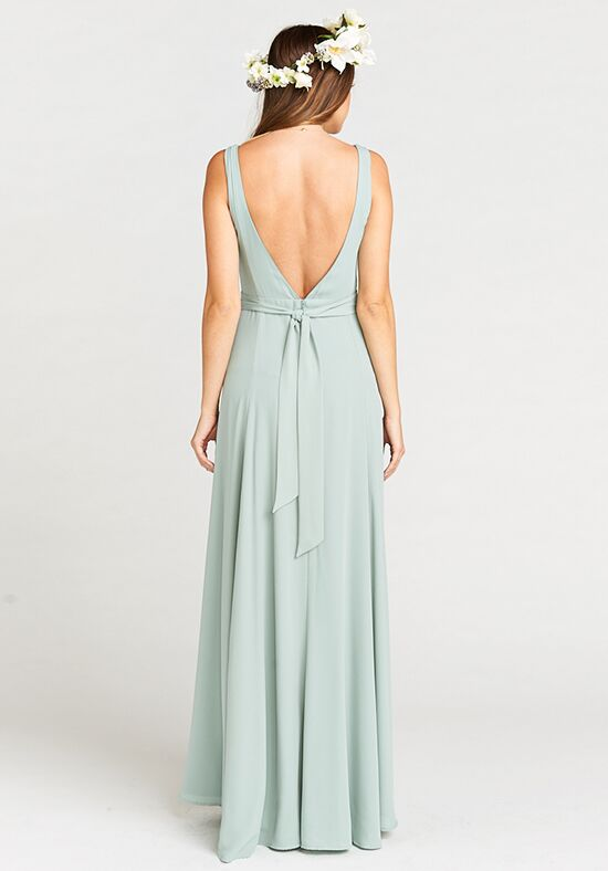 Show Me Your Mumu Jenn Maxi Dress Silver Sage Crisp