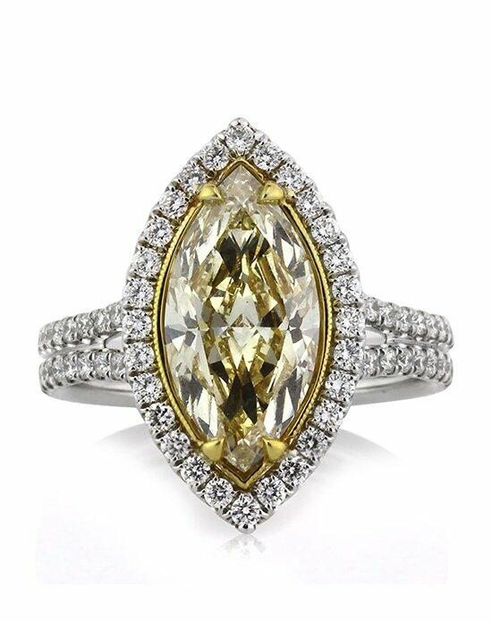 Mark Broumand 3.40ct Fancy Light Yellow Marquise Cut Diamond Engagement Ring Engagement Ring photo