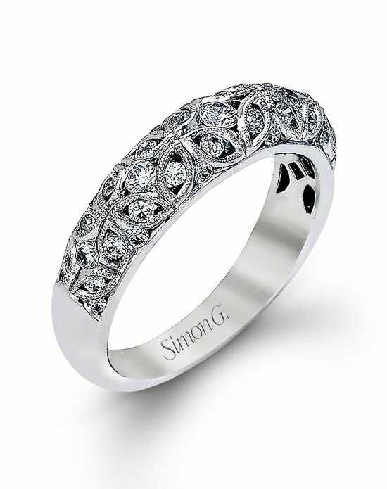 Simon G. Jewelry MR1523 White Gold Wedding Ring