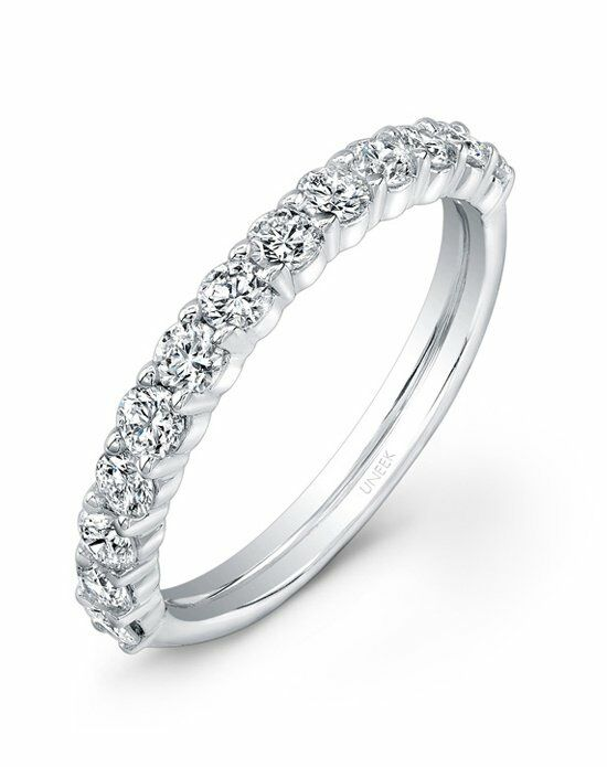 Uneek Fine Jewelry UWB09 White Gold Wedding Ring