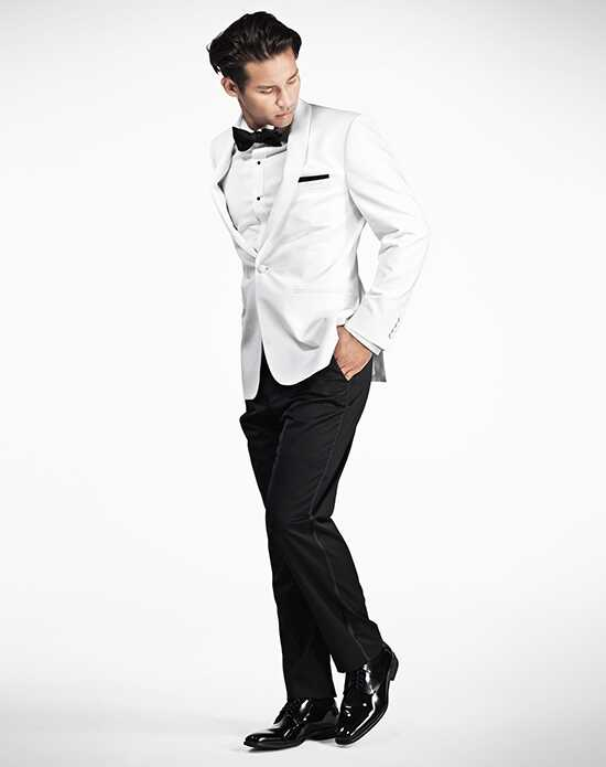 Generation Tux White Shawl Lapel Tux Wedding Tuxedos + Suit photo