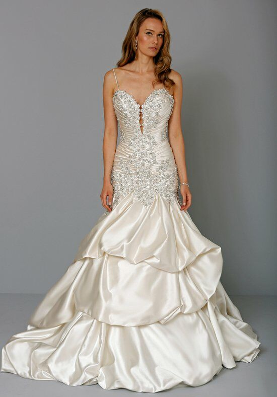 Pnina tornai for kleinfeld 4235 wedding dress the knot for Kleinfeld mermaid wedding dresses