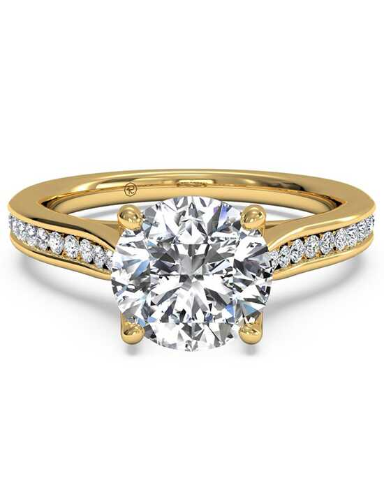 Ritani Channel-Set Diamond Engagement Ring with Surprise Diamonds - in 18kt Yellow Gold (0.14 CTW) for a Round Center Stone Engagement Ring photo