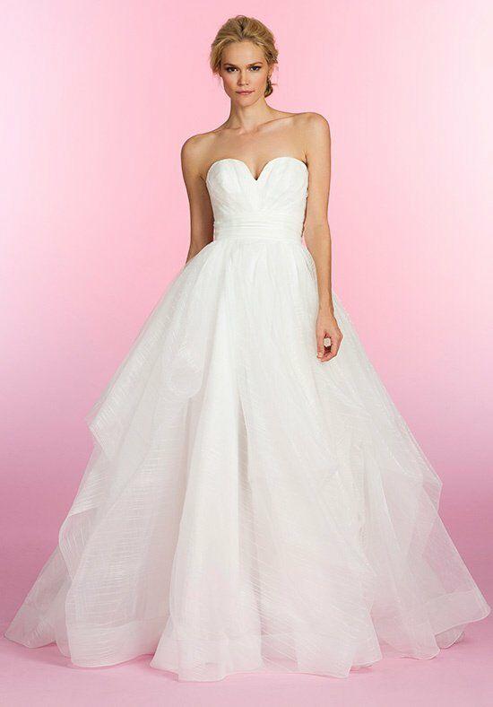 Pink Striped Taffeta Wedding Gown