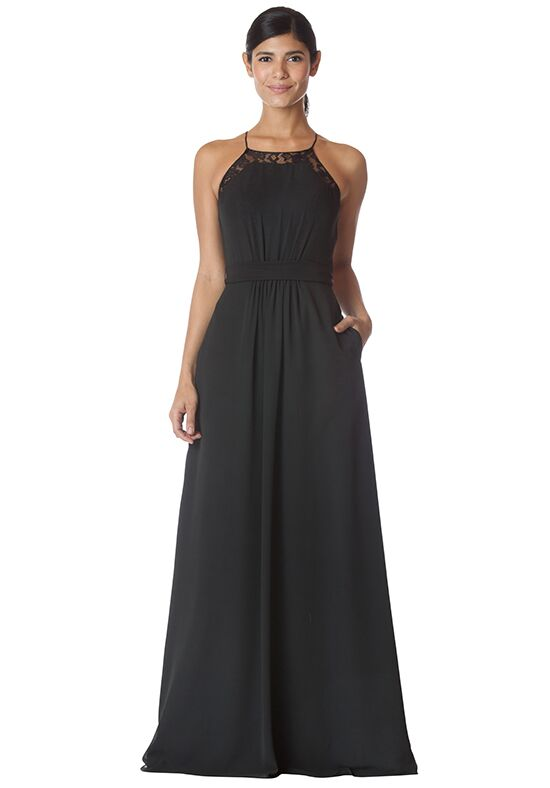 Bari Jay Bridesmaids 1774 Halter Bridesmaid Dress