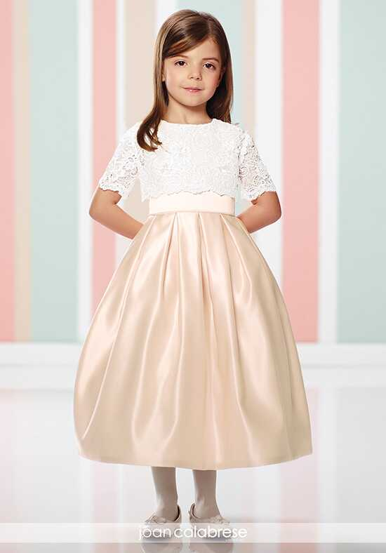 Joan Calabrese by Mon Cheri 216301 Ivory Flower Girl Dress