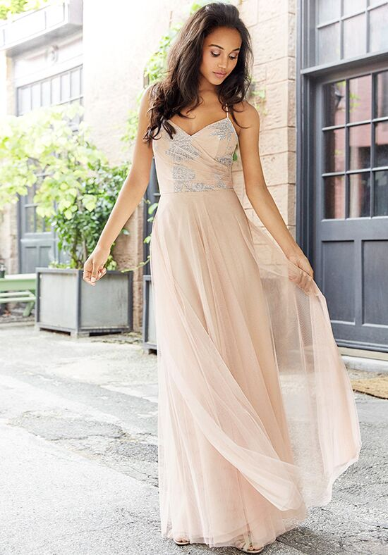 Hayley Paige Occasions 5764 V-Neck Bridesmaid Dress