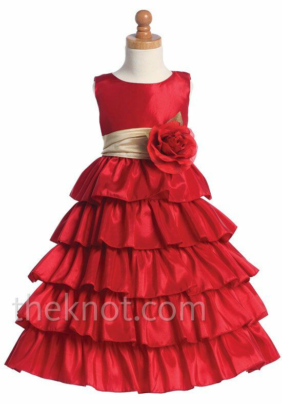 Pink Princess BL203 Gold Flower Girl Dress