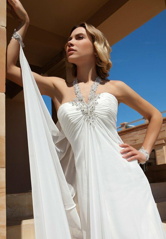 Demetrios DR196 A-Line Wedding Dress