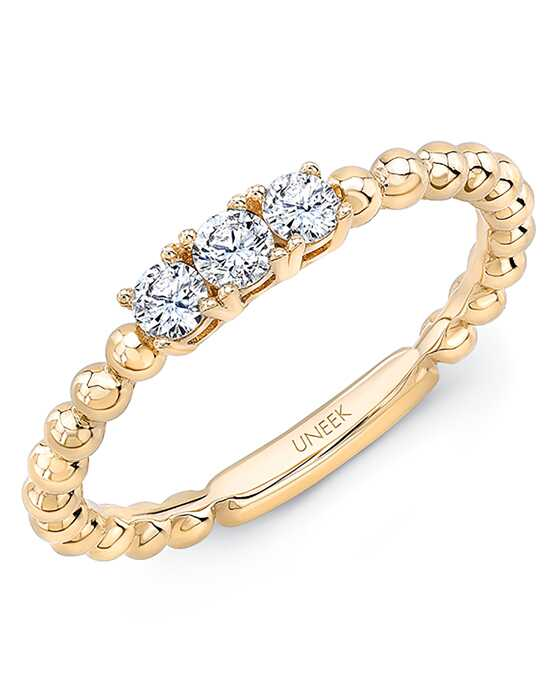 "Uneek Fine Jewelry Uneek ""Harper"" Stackable Wedding Band, 14K Yellow Gold - LVBNA212Y Gold Wedding Ring"