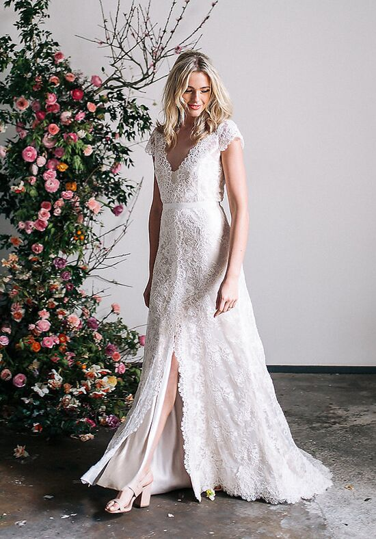 KAREN WILLIS HOLMES Rose Mermaid Wedding Dress
