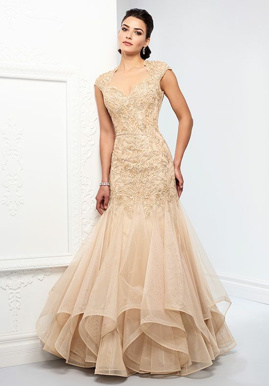 Ivonne D. 218D29 Champagne Mother Of The Bride Dress