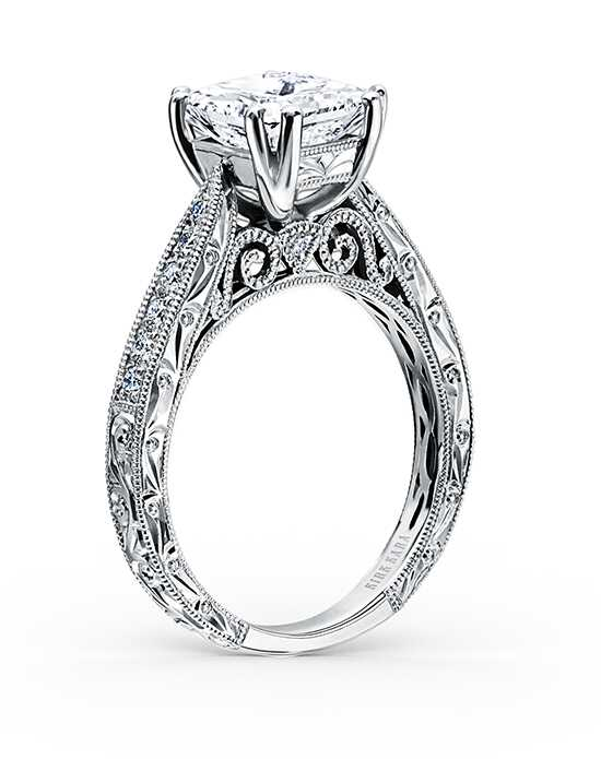 kirk kara classic princess cut engagement ring - Princess Wedding Ring