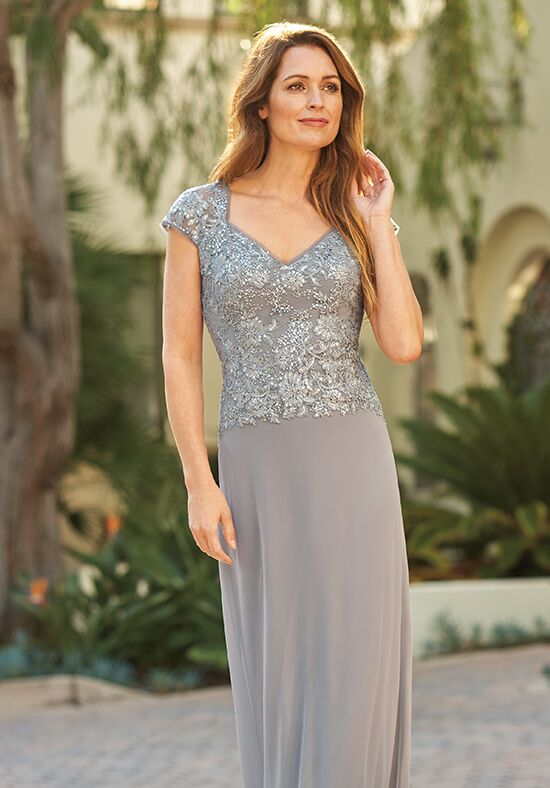 Jade J205065 Silver Mother Of The Bride Dress