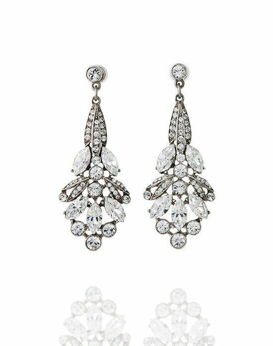 Thomas Laine Ben-Amun Deco Crystal Earring Wedding Earring photo
