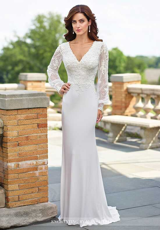 Enchanting by Mon Cheri 117183 Sheath Wedding Dress