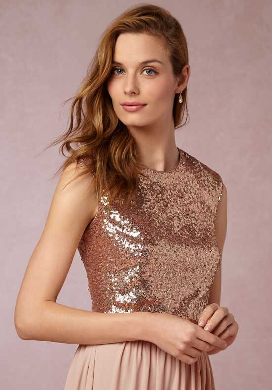 BHLDN (Bridesmaids) Kaity Top - Rose Gold Bateau Bridesmaid Dress