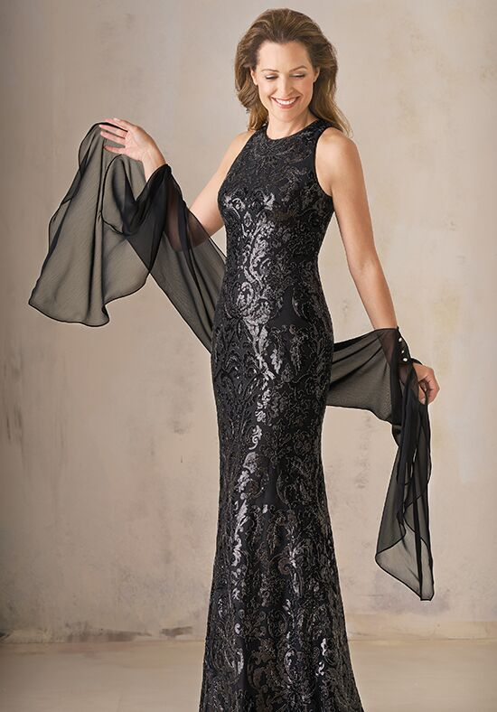 Jade Couture K208007 Black Mother Of The Bride Dress
