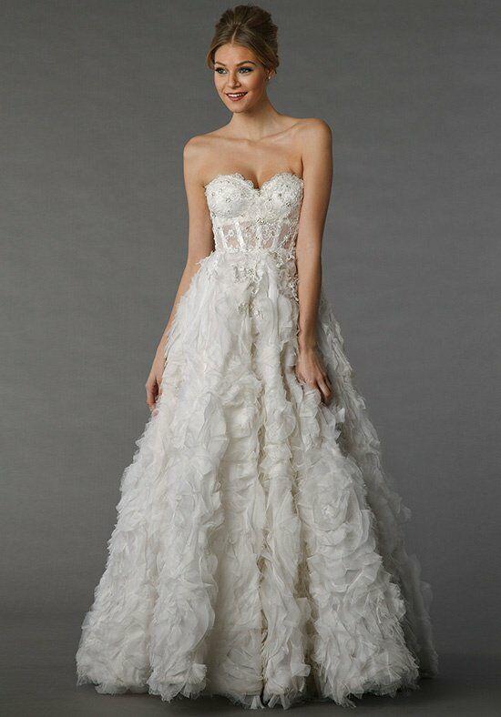 Pnina tornai for kleinfeld 4307 wedding dress the knot for Pnina tornai wedding dresses prices