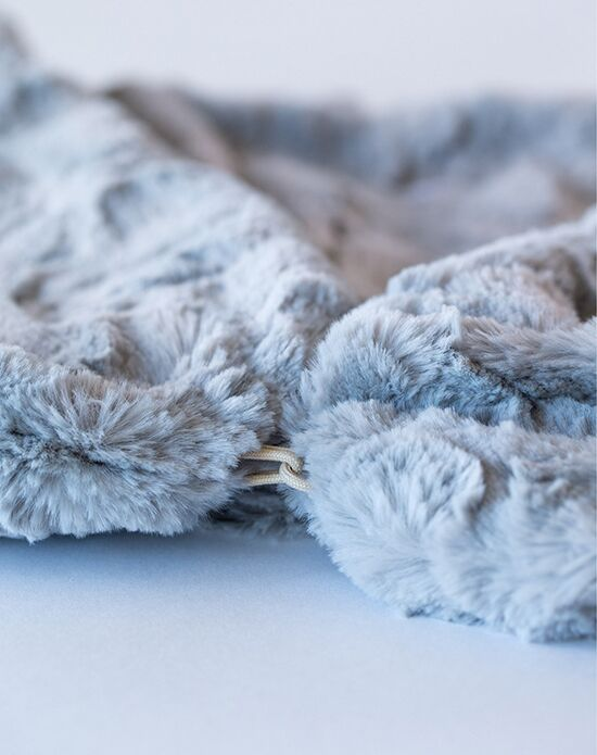 Davie & Chiyo | Faux Fur Shawls First Frost Fur Stole Brown, Ivory, Gray Wrap