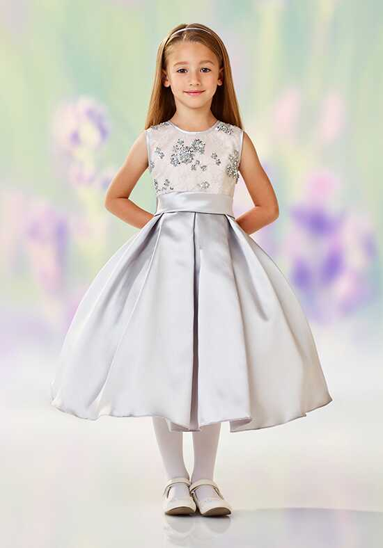 Joan Calabrese by Mon Cheri 118313 Gray Flower Girl Dress